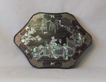 Antique Chinese Mother of Pearl Inlaid Plaque