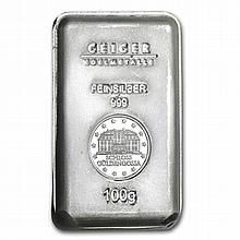 100 gram Silver Bar (Secondary Market) .999 Fine - L31305