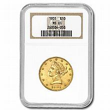 $10 Liberty Gold Eagle - MS-61 NGC - L30566