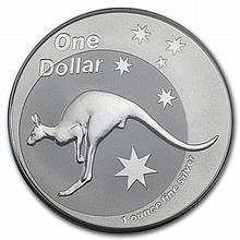 2005 1 oz Australian Silver Kangaroo (In Display Card) - L30130