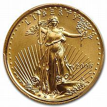 2006-W 1/4 oz Burnished Gold American Eagle MS-69 PCGS - L31026
