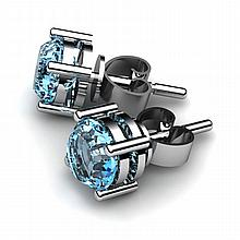 Topaz 2.00ctw Earring 14kt White Gold - L10914
