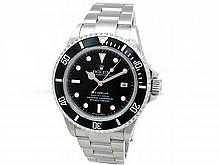 40mm Gents Rolex Stainless Steel Oyster Perpetual Sea Dweller Watch. Black Dial. Stainless Steel Bezel, black insert. Stainless Steel Oyster Band. Style 16600. - L29669