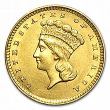 $1 Indian Head Gold - Type 3 - Almost Uncirculated - L30576