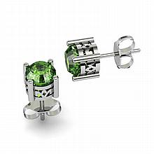 Tourmaline 0.90ctw Earring 14kt White Gold - L11152