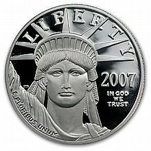 2007-W 1 oz Proof Platinum American Eagle (w/Box & CoA) - L30928