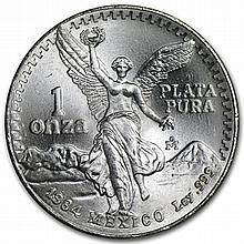 1984 1 oz Silver Mexican Libertad (Brilliant Uncirculated) - L31405