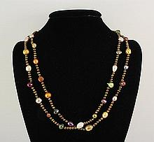 303.66CTW LONG FRESHWATER PEARL NECKLACE ASSORTED - L22067
