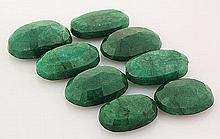 281.64ctw Faceted Loose Emerald Beryl Gemstone Lot of 8 - L20450