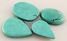 Natural Turquoise 127.57ctw Loose Small Gemstone Lot of 4 - L21238