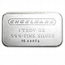 1 oz Engelhard Silver Bar (Wide, Logo / Frosted, 1980, 5-digit) - L24735