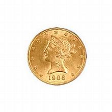 $5 Liberty Almost Uncirculated Early Gold Bullion - L18154