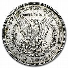 1887 Morgan Dollar Extra Fine VAM-1A Donkey Tail Top-100 - L27525