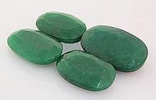 131.75ctw Faceted Loose Emerald Beryl Gemstone Lot of 4 - L20416
