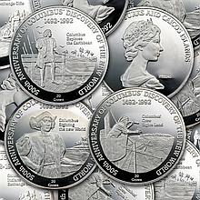 Turks & Caicos 1992 20 Crowns Silver Proof Columbus - L27707