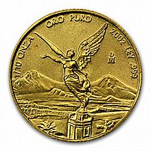 2002 1/10 oz Gold Mexican Libertad (Brilliant Uncirculated) - L26236