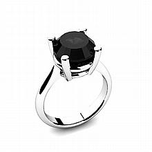 Black Diamond 4.00ctw Ring 14kt White Gold - L11020