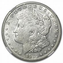 1921-S Morgan Dollar XF-45 NGC Obverse Struck Thru Mint Error - L28721