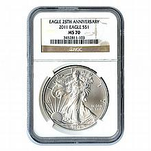 Certified Uncirculated Silver Eagle 2011 MS70 - L17985