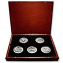 2010 5 oz Silver BU ATB 5-Coin Set in Elegant Display Box - L24797