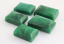 176.49ctw Faceted Loose Emerald Beryl Gemstone Lot of 5 - L20404