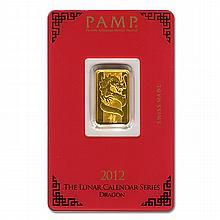 Gold Bars: Pamp Suisse 5 Gram Gold Bar 2012 - L21636