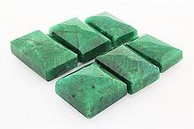 264.39ctw Faceted Loose Emerald Beryl Gemstone Lot of 6 - L20381