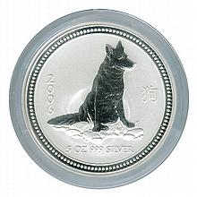 Australian Lunar Silver 5 oz Silver 2006 Dog - L21511