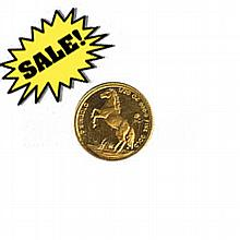 Singapore Gold 20th Ounce 1990 Horse - L18437