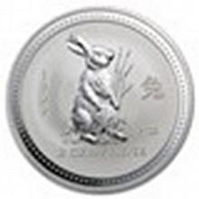 1999 2 oz Silver Lunar Year of the Rabbit (Series I) - L25100