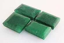 182.08ctw Faceted Loose Emerald Beryl Gemstone Lot of 4 - L20392