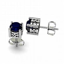 Sapphire 2.10ctw Earring 14kt White Gold - L11162