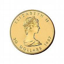 Canada Maple Leaf Half Ounce Gold Coin (Dates Our Choice) - L21623