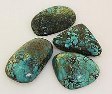 Natural Turquoise 225.36ctw Loose Gemstone 4pc Big Size - L21199