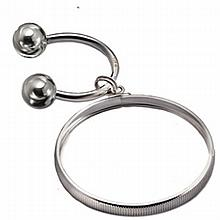 Sterling Silver Horseshoe-Shaped Key Ring for Silver Eagle - L22978