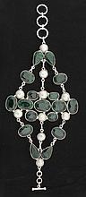 Fashion Silver 395.50ctw Emerald Beryl Bracelet - L18907