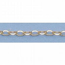Pure Gold 16 14kt Italian Gold-Yellow 2.3mm, Oval D/C Link Chain Gauge:060, 2.6gr - L11317