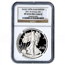 Certified Proof Silver Eagle PF69 2011 - L17986