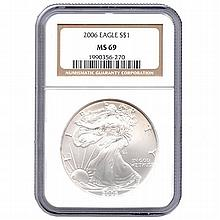 Certified Uncirculated Silver Eagle 2006 MS69 - L17960
