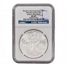2013 (S) Silver American Eagle MS-69 NGC (Early Releases) - L22874