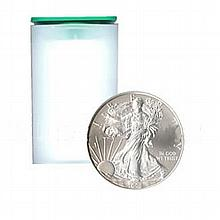 Uncirculated Silver American Eagle Roll (20 Coins) 2009 - L17951