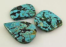 Natural Turquoise 201.30ctw Loose Gemstone 3pc Big Size - L21175