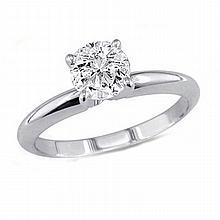 0.35 ct Round cut Diamond Solitaire Ring, I-J, SI2 - L11501