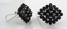 Cluster Sapphire 43.33CTW Sterling Silver Earring - L19105