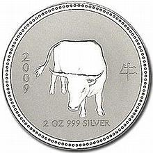 2009 2 oz Silver Lunar Year of the Ox (Series I) - Key Date! - L25091