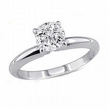 0.90 ct Round cut Diamond Solitaire Ring, G-H,I1-I2 - L11546