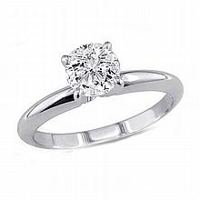 0.50 ct Round cut Diamond Solitaire Ring, G-H,I1-I2 - L11548