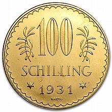 Austria Gold 100 Schilling 1926-1931 Prooflike AGW .6807 - L31720
