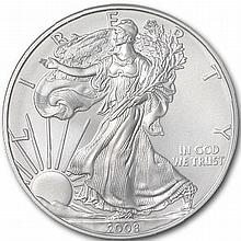 2008-W (Burnished) Silver American Eagle MS-70 NGC - L31067