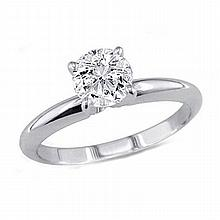 0.50 ct Round cut Diamond Solitaire Ring, G-H, VS - L11529